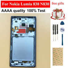 For Nokia Lumia 830 N830 RM-984 Touch Screen Digitizer Sensor Glass + LCD Display Panel Module Assembly With Black Frame(China)