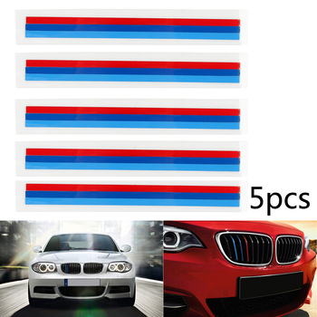 Areyourshop 5PCS Front Grille Grill Vinyl Strip Sticker Decal For BMW M3 M5 E46 E60 E90 E92 Strip Sticker Decal Car Auto Parts image