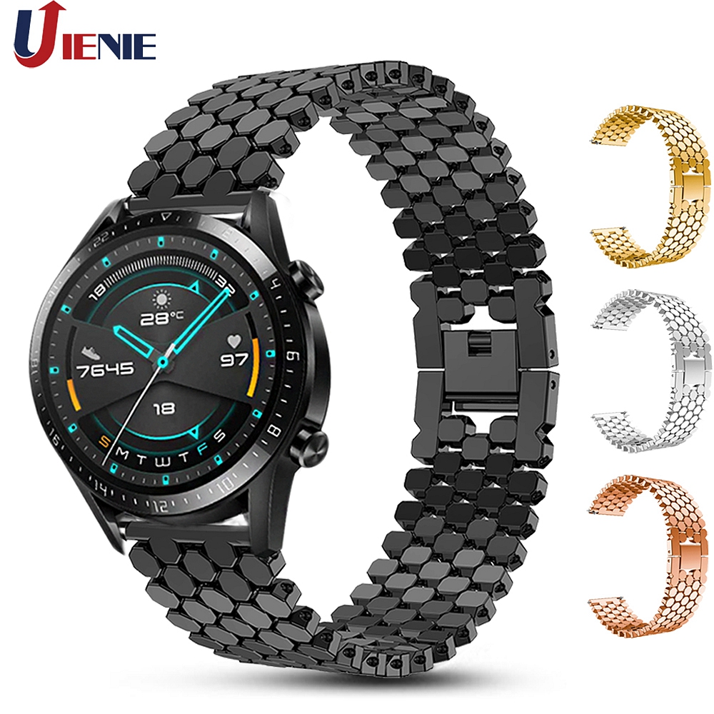 22mm Watchband Strap For Huawei Watch GT GT2 46mm Band For Honor Magic/ GT Active Wristband Alloy Bracelet For Samsung Gear S3