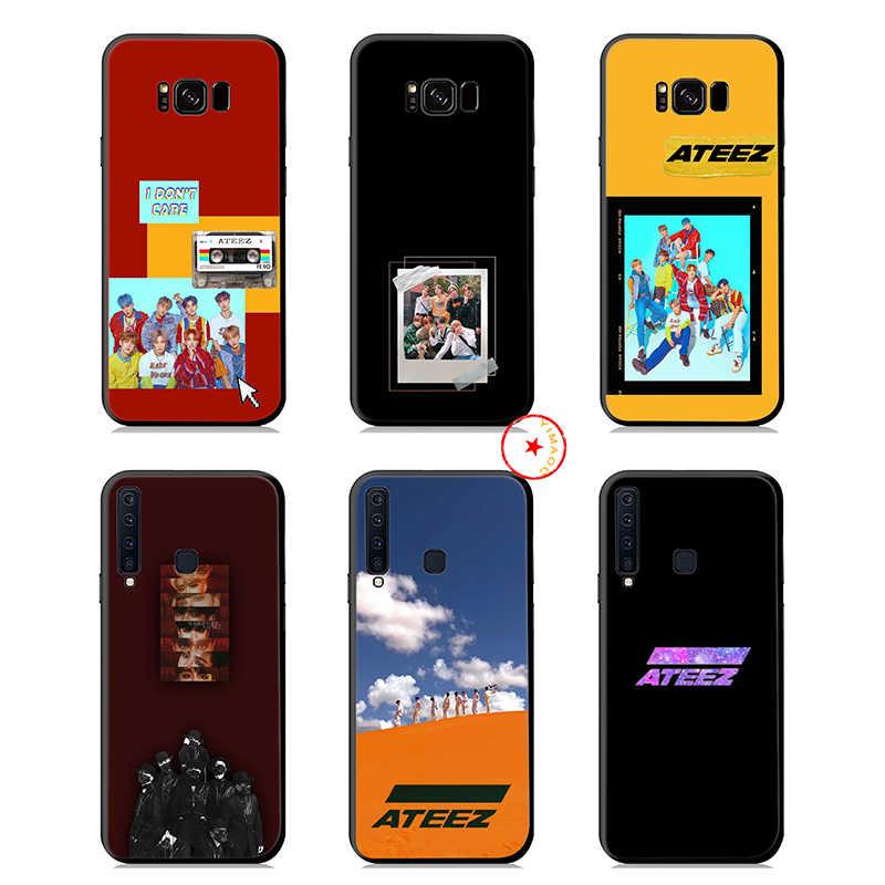 ATEEZ K Pop Yumuşak Silikon samsung kılıfı Galaxy A50 A70 A60 A40 A30 A20 A10 M10 M20 M30 M40 Kapak