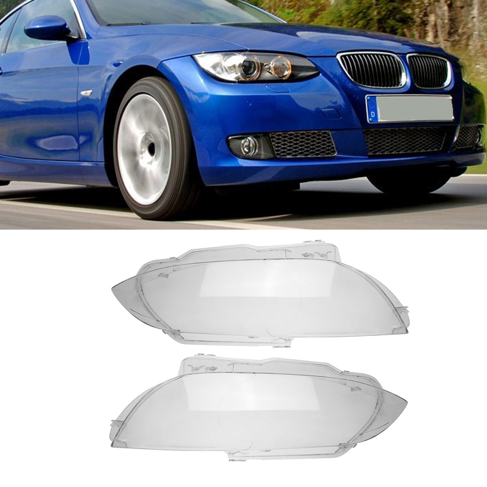 Clear ABS Plastic Headlight Lens Replacement for BMW E92 2-Door 2006-2009Car Lights Headlight Head Lamp Cover 1 Pair