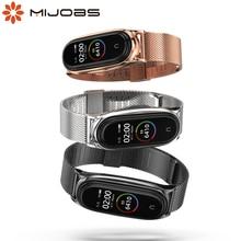 Für Xiaomi Mi Band 5 Globale Version NFC Strap Metall Edelstahl für Mi Band 4 Strap Correa Mi Band 3 armband Armbänder
