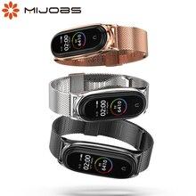 עבור Xiaomi Mi Band 5 הגלובלי גרסת NFC רצועת מתכת נירוסטה עבור Mi Band 4 רצועת קוראת Mi Band 3 צמיד Wristbands