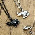Vnox Männer Feuerbestattung Schmuck für Asche Elefanten Form Memorial Anhänger Edelstahl Andenken Medaillon Halskette für Haustiere und Frauen