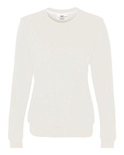 Anvil 71000L Pull à Col Rond En Polaire Peigné Pour Femme - Blanc - Taille L