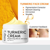 Herb Turmeric Face Cream Repair Acnes scar Dark spot Treatment Moisturizer Whitening Lightening Against  Acne skin care 30ml 6