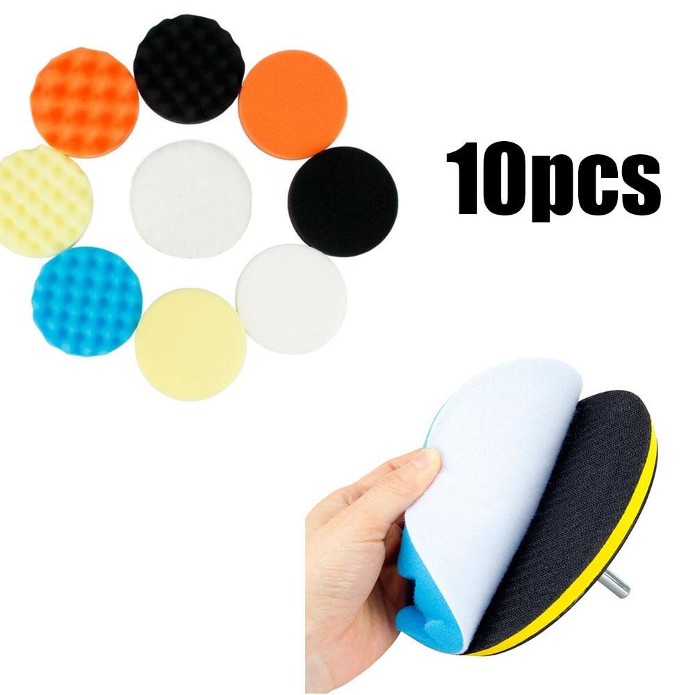 2020 novo 10 pcs polisher carro 3 4 5 6 polegada esponja polimento enceramento almofadas kit