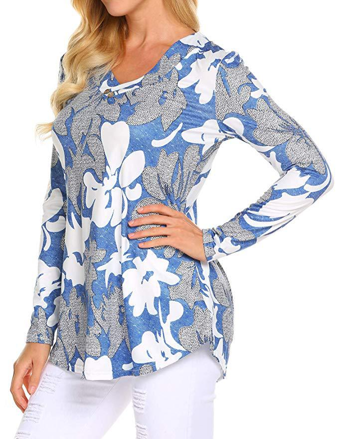 H10f3ac0a270d45cba40b10145e46d07fo - Large size Blouse Women Floral Print Long Shirts elegant Long Sleeve Button Autumn Tunic Tops Plus Size Female Clothing