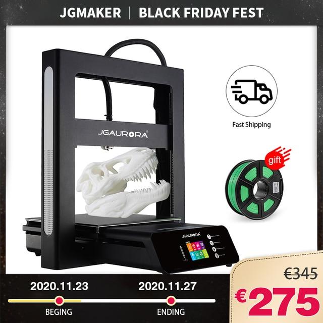 Imprimante 3D JGMAKER JGAURORA A5 mise à jour A5S Kit de bricolage complet en métal extrême haute précision grande taille dimpression 305x305x320mm Impressora 3d