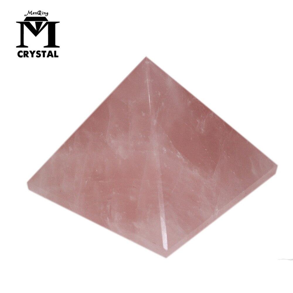 Livraison directe naturel rose Quartz cristal pyramide cadeau décor à la maison guérison pierre artisanat spécimen