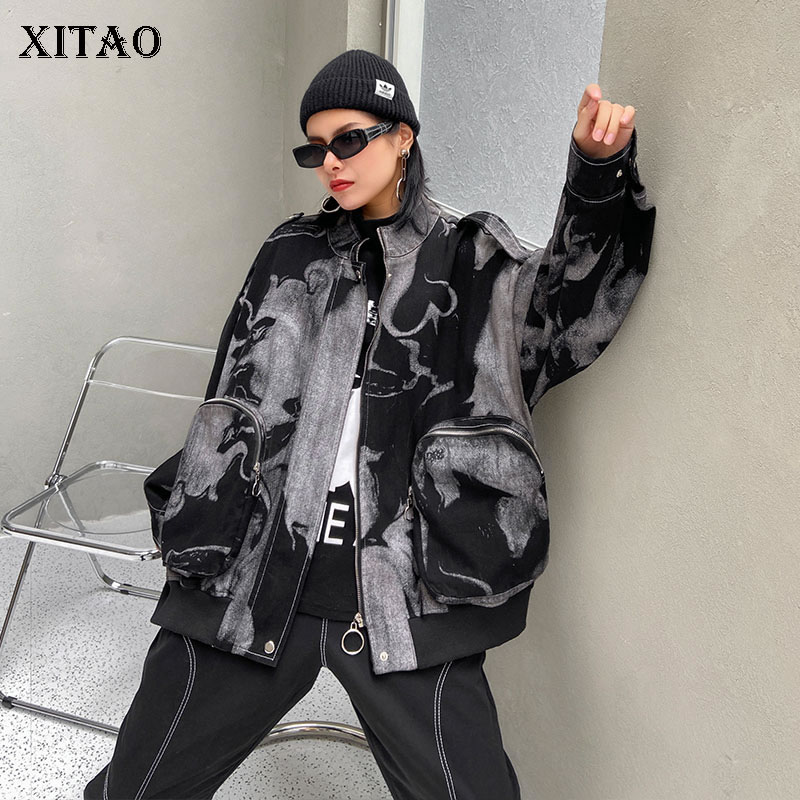 XITAO Fashion Jacket Print Pattern Full Sleeve Small Fresh Casual Style 2020 Autumn Plus Size Minority Loose Coat GCC4133 1