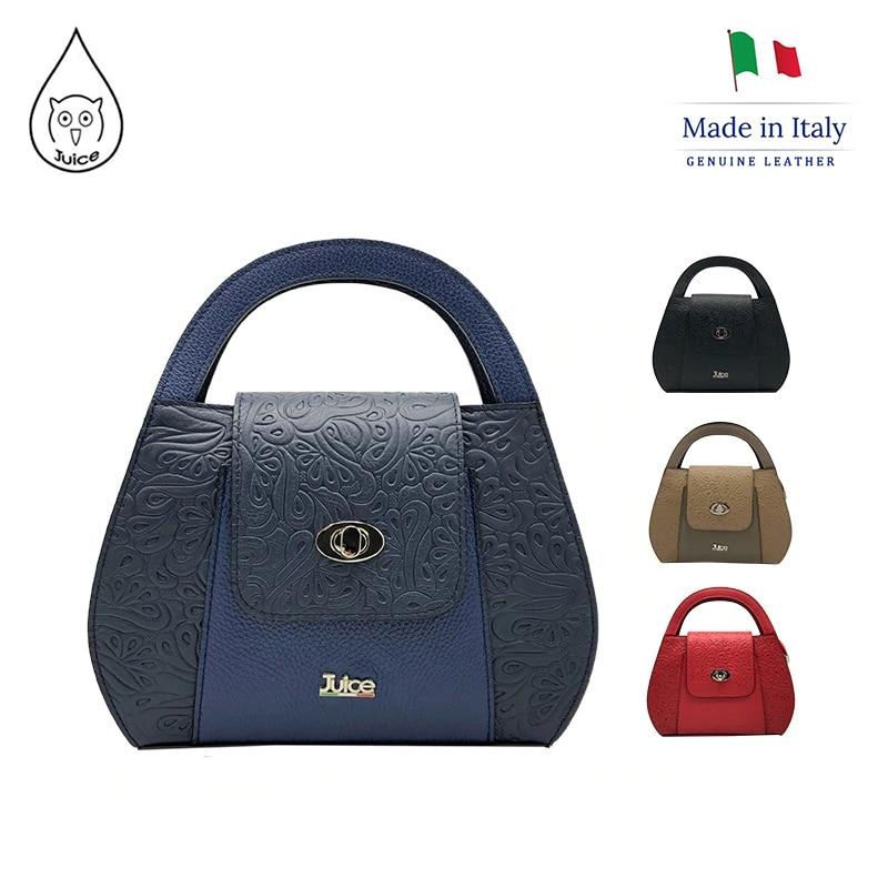 JUICE ,made In Italy, Genuine Leather, Women Bag,Women Handbag,addition Long Shoulder Strap 112194.412