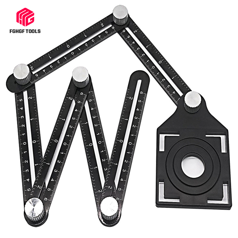 FGHGF Universal Tile Open Hole Positioner Hole Opener Bring Location Punch High-precision Tiling Artifact Six A Folding