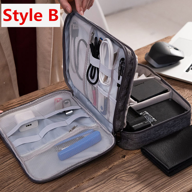 Travel Accessory Digital Bag Power Bank USB Charger Cable Earphone Storage Pouch Large Shockproof Electronic Organizer Package 2
