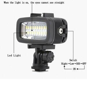 Image 4 - Orsda LED ضوء فلاش تحت الماء الغوص ضوء مقاوم للماء الفيديو ضوء ملء في مصباح ل GoPro بطل 7 SJCAM SJ4000 H9 H9R شاومي يي