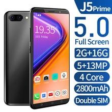 Smartphone android j5 prime 2gb 16gb celulares quad core hd câmera 5.0