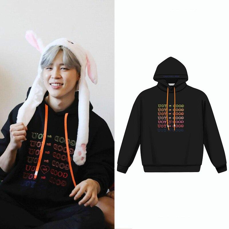 Kpop jin suga automne hiver Plus velours hommes sweat à capuche pour femme mode coréenne Harajuku sweats à capuche k-pop Bangtan garçons manteau