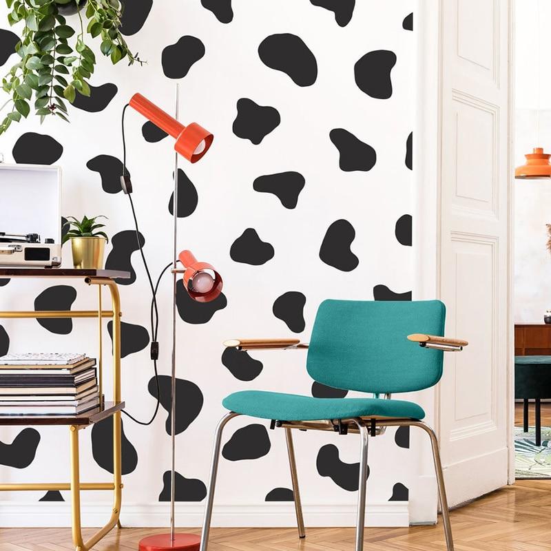 50 Pcs Cow Spot Polka Dot Wall Sticker Bedroom Refrigerator Cute Cow Print Spot Dot Wall Decal Fridge Kids Room Vinyl Decor Wall Stickers Aliexpress
