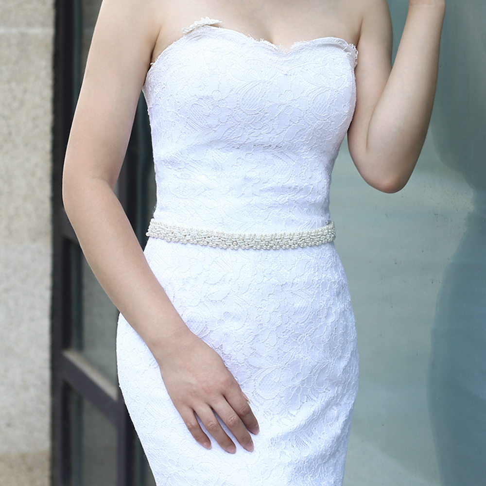 Elegent Girls Women Lace Trim Pearl Garter Wedding Bridal Party Costume