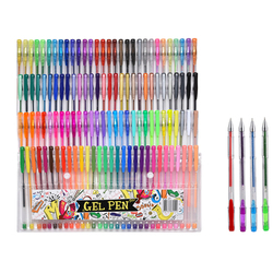 100/120 mão conta caneta 0.8mm cor gel caneta escola material de escritório desenho desenho desenho desenho bonito estudante assinatura caneta 040301