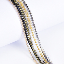 5m/lot Metal Ball Bead Chains Bulk Gold/Silver/Rhodium Link Chains For Diy Necklaces Bracelets Jewelry Making Supplies 5m lot 1 5mm metal ball bead chains 7colors ketting kettingen bulk bulk iron chains for diy jewelry accessories