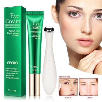 EFERO 1pc ujędrniający skórę pod oczami krem nawilżający przeciw zmarszczkom usuń ciemne koła + 1pc elektryczne Mini urządzenie do masażu oczu Vibratio pielęgnacja oczu tanie i dobre opinie Kobiet R22+TH17 eye care Chiny GZZZ Hyaluronic Acid Argireline collagnen Anti-Aging Removal Rejuvenation To remove wrinkle Moisturizing eye essence