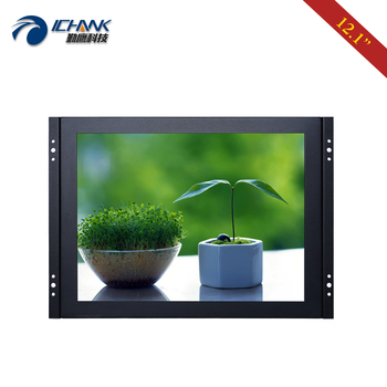 "ZK120TN-DV2/12.1"" inch 1024x768 Steel Case Embedded Open Frame Wall-mounted Power On Boot DVI VGA PC Monitor LCD Screen Display"