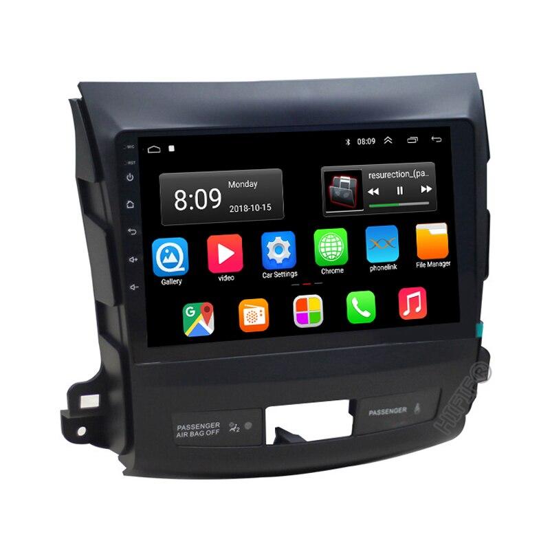 Android 9,0 автомобильный dvd gps мультимедийный плеер радио для Mitsubishi Outlander 2006-2014 Peugeot 4007/Citroen C-Crosser 2.5D