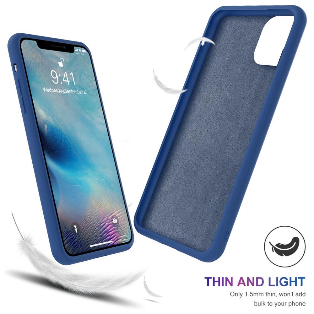Torubia Silicone Case for iPhone 11/11 Pro/11 Pro Max 2