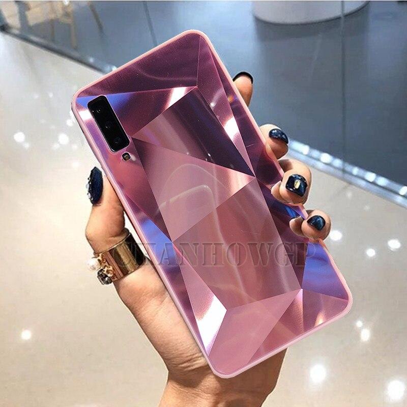 Diamond Mirror Phone Case For Samsung Galaxy A70 A50 A30 A10 M30 S10 S10e S8 S9 A9 A7 A8 J4 J6 J8 Plus 2018 Note9 Soft Cover