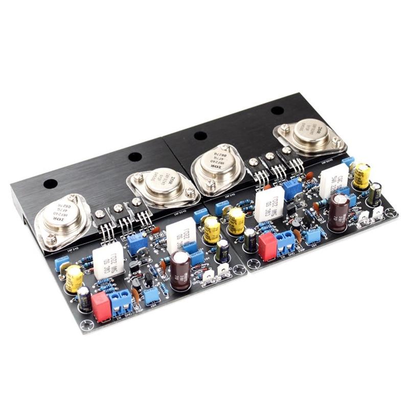 MOOL Golden Seal IRF240 IRF9240 Power Amplifier 80W Stereo Class A Sound Amplifier DIY Speaker Amplificador Home Theater