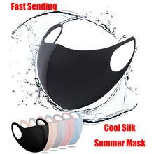 Masque facial en coton et soie pour homme et femme, lavable, réutilisable, Anti-poussière, coupe-vent, respirant, PM2.5, PM042