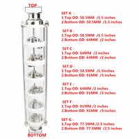 304 colonne de Distillation à bulles d'acier inoxydable/cuivre avec 6 sections pour la distillation. Colonne de verre