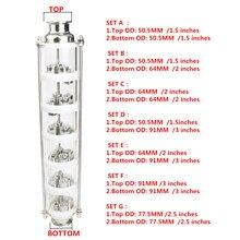 304 in acciaio inox/rame bolla di Distillazione Colonna con 6 sezione per la distillazione. Colonna di vetro