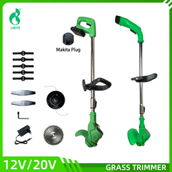 12V/20V Cordless Garden Grass Hedge TrImmer Lawn Mower interchangeable with Makita Battery
