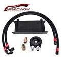 SPEEDWOW универсальный двигатель AN1016Row трансмиссионный масляный радиатор + Масляный переходник фильтр Кулер пластина комплект + 1 м/1 2 м плетены...