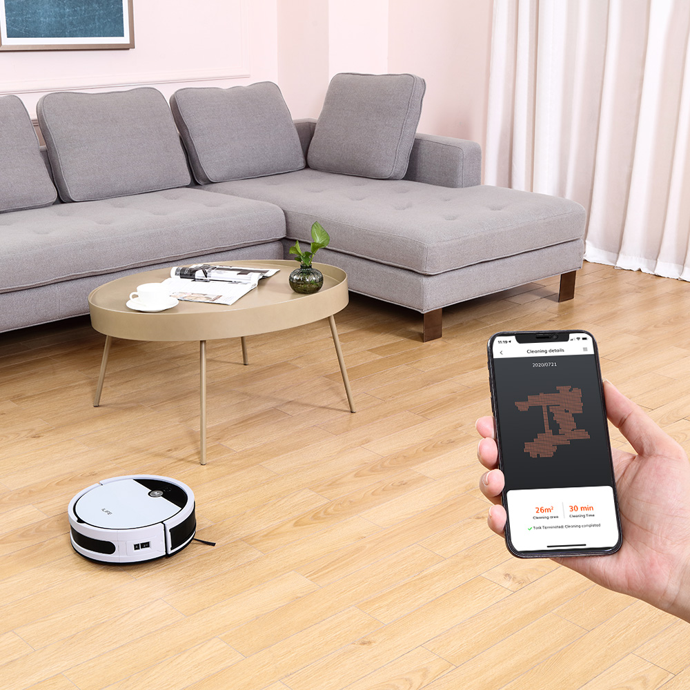 ILIFE V9e Robot Vacuum Cleaner Smart 700ML dust box WIFI App control Powerful suction 110 Minute Run Time 3