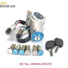 EDLSCAN 2992551 2991727 ключ зажигания баррель цилиндр замка крой, подходит для ежедневного 2000-2006 2992551 2991727