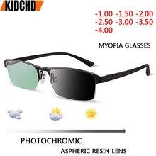 JIE. B переходные фотохромные солнцезащитные очки близорукость очки готовые близорукость очки для мужчин компьютерные оптические очки Рамка очки с диоптриями  1  2  3  4