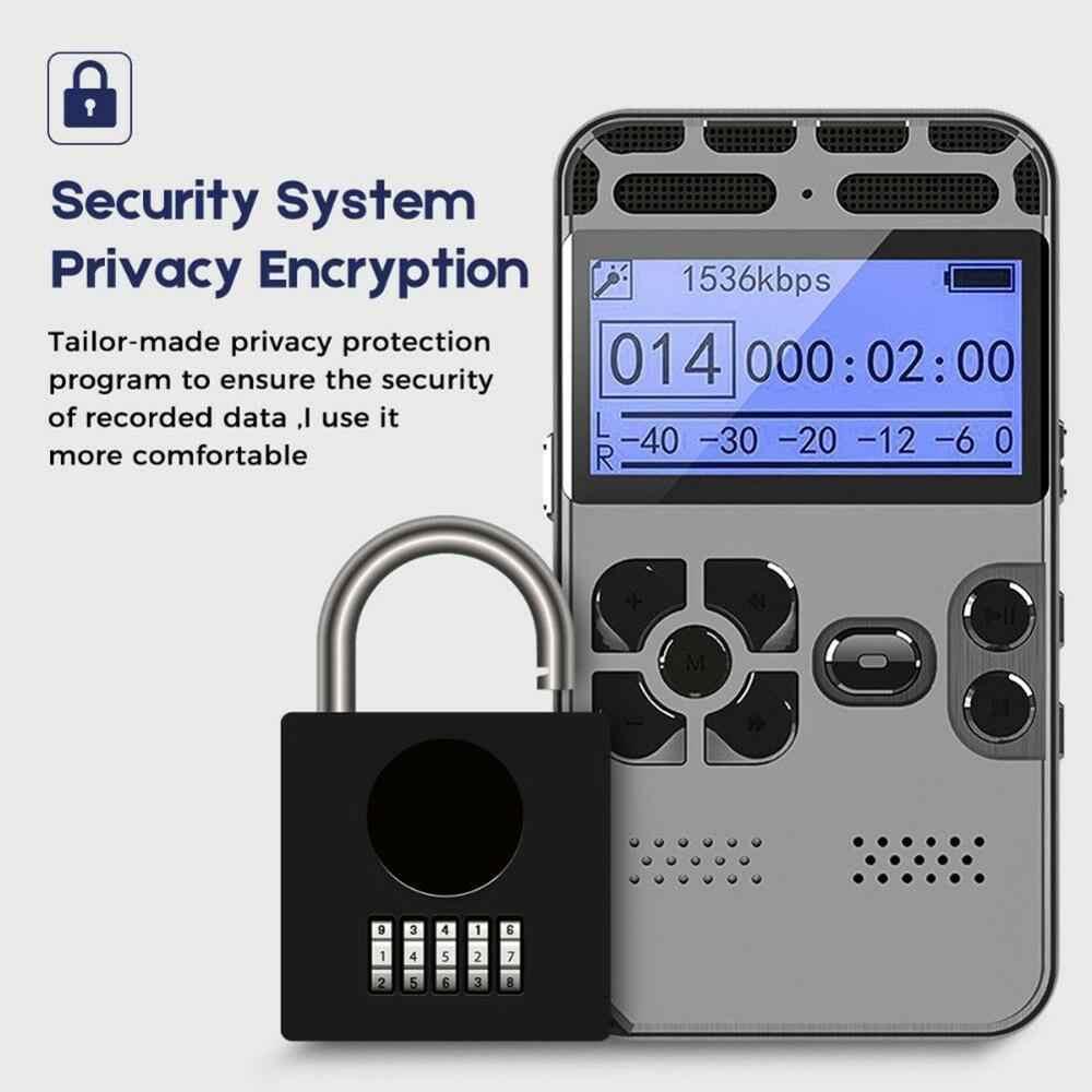 Mini Profesional Suara Digital Audio Recorder SMART Kontrol Suara Pengurangan Kebisingan HD HI FI Musik MP3 Player Kartu TF 64G memperpanjang
