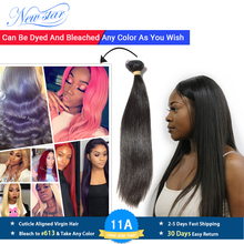 New Star Hair Peruvian Straight Virgin Hair Weaving Natural Color 1 3 4 Piece 100 Unprocessed