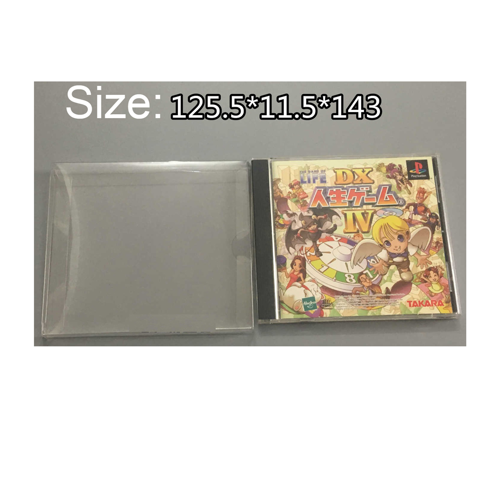 10pcs Clear transparent box For PS1 for sega dreamcast DC SS game card collection display storage 1CD PET protective box image