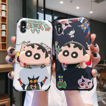 3D Cartoon Crayon Shin-Chan Telefoon Cover Voor Iphone 11 Pro Max X 6 6S 7 8 Plus case Voor Iphone Xr Xs Max Beschermende Back Cover(China)