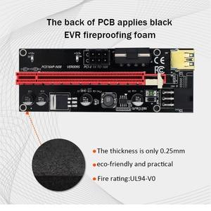 Image 3 - TISHRIC 009S PCI E Riser Card Extender USB 3.0 Adapter Cable PCI 1X 4X 8X 16X Extender riser for video card For GPU Miner Mining