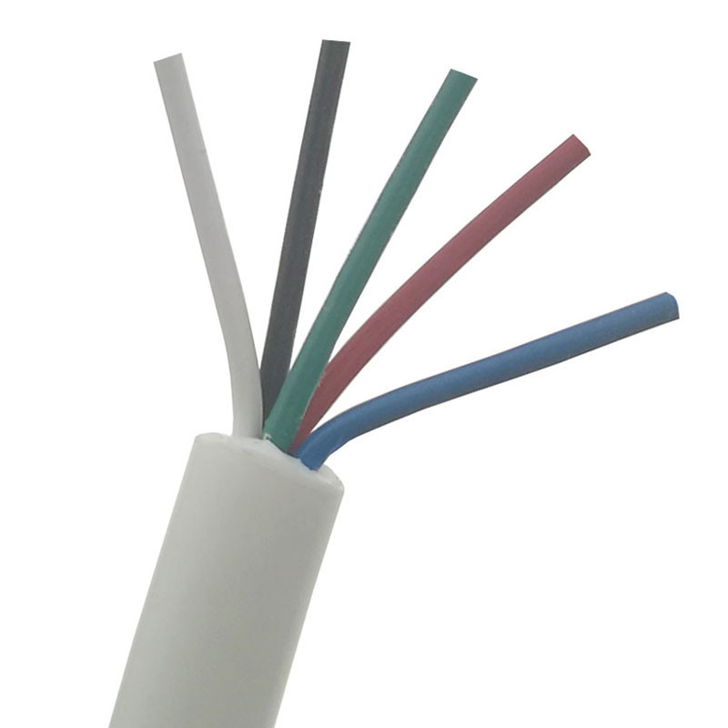 White Dimensions 5mm Soft Five 5 Core Silicone Wire For T12 936 937 907 9501 2028 Durable Soldering Station Handle Line