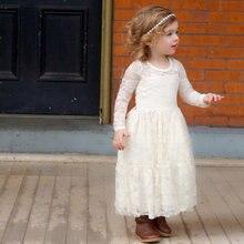 Кружевные платья в стиле бохо для девочек с цветочным рисунком