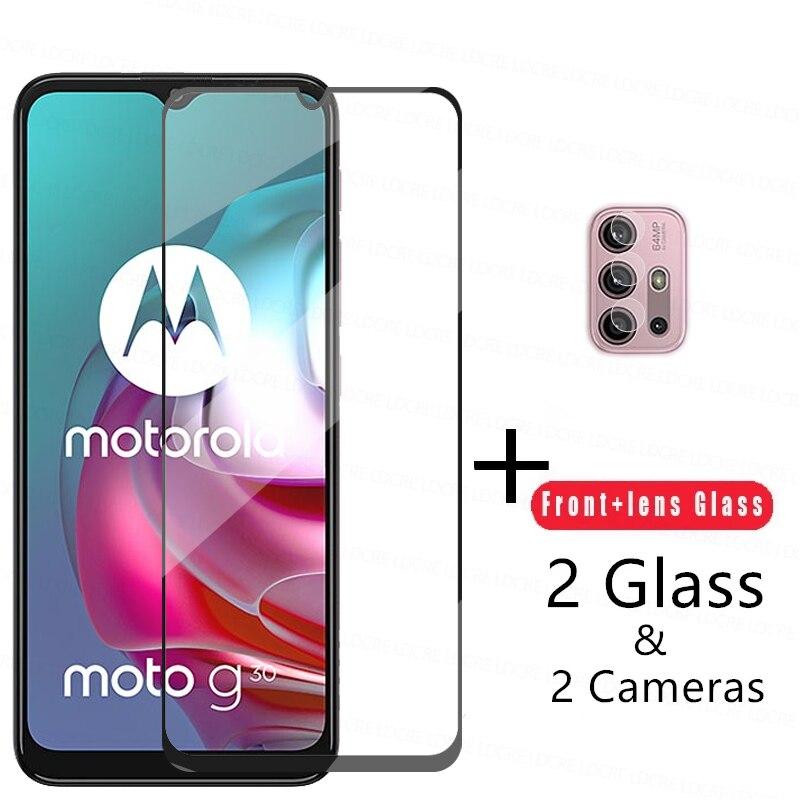Защитное стекло 2.5D для Motorola Moto G30, закаленное стекло для телефона Moto G30, Защитная пленка для камеры Moto G30