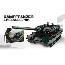 цена modern military germany army Leopard 2A6 Main Battle Tank moc batisbricks building block model ww2 figures bricks toy collection онлайн в 2017 году