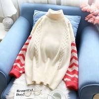 turtleneck women sweater thicken warm winter new loose fashion lady pulls outwear coat tops