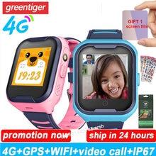A36e 4g relógio inteligente crianças gps tracker chamada de vídeo relógio telefone inteligente ip67 à prova dip67 água criança relógio do bebê gps pk y95 lt21